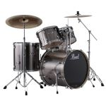 "PEARL EXPORT EXX 22"" ROCK/FUSION SMOKEY CHROME with SABIAN SBR CYMBALS"